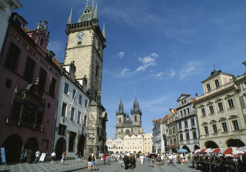 The Old Town Square in Prague, Czech Republic