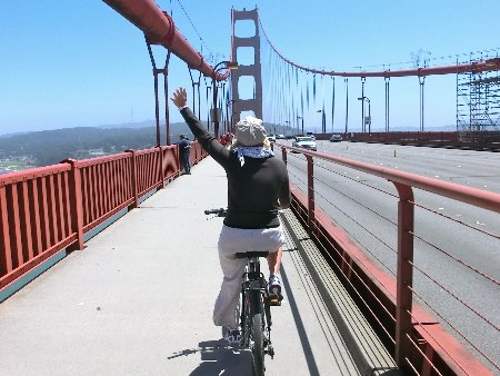 Pedalando sul Golden Gate