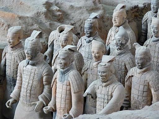 In visita all'esercito di Terracotta di Xi'An