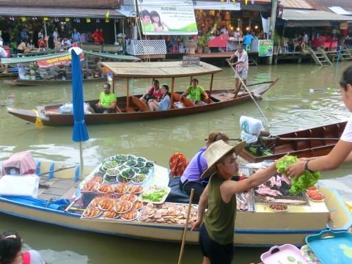 floating market, mercato galleggiante, mercato thailandia, mercato bangkok, Amphawa