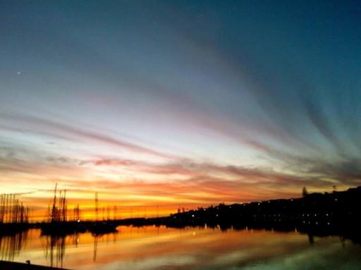 porto marina di ragusa, barche, tramonto