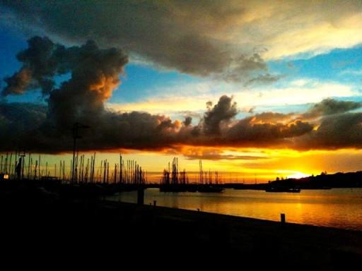 porto di marina di ragusa, tramonto, barche