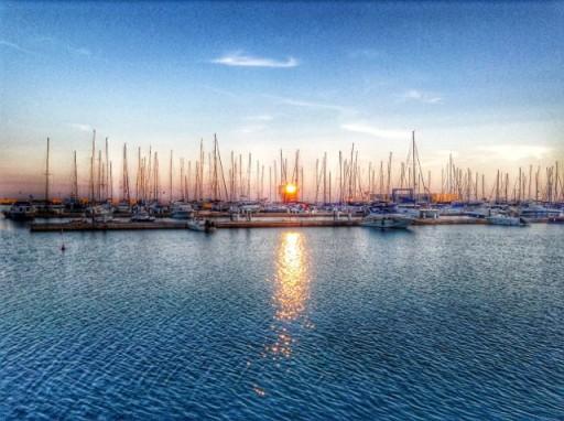 tramonto, porto marina di Ragusa