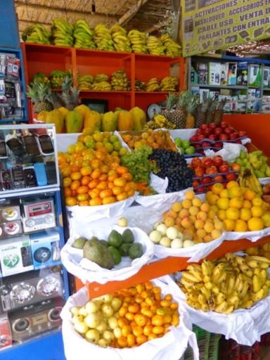 mercato perù, mercato nazca, mercato frutta perù