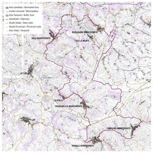 monferrato unesco mappa