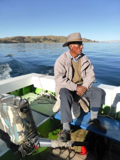 lago titicaca, barcaiolo