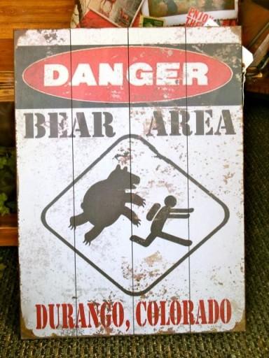 cartelli del mondo, pericolo orsi