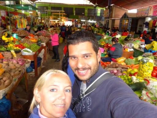 mercato perù, mercato frutta a nazca