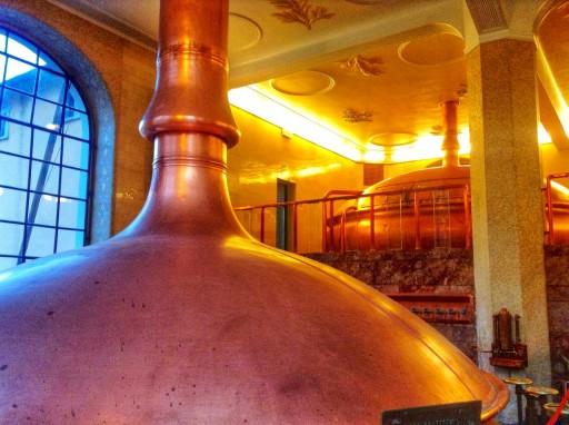 caldaie birra, caldaie in rame per birra, stabilimento pedavena