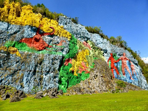 valle vinales, murales preistorico