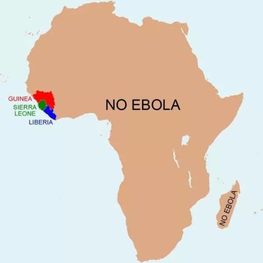 Questa immagine che gira su Facebook in questi giorni, vuole chiarire al meglio la situazione ebola