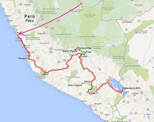 itinerario perù 9 giorni