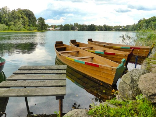 barche lago trakai