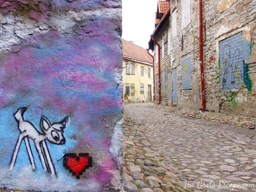 Street art per le viuzze della città