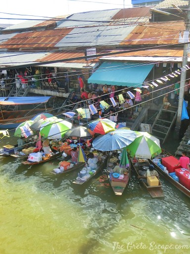 Floating market di Amphawa