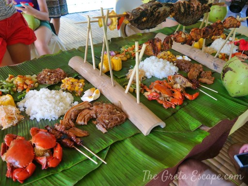 Boat lunch Bohol
