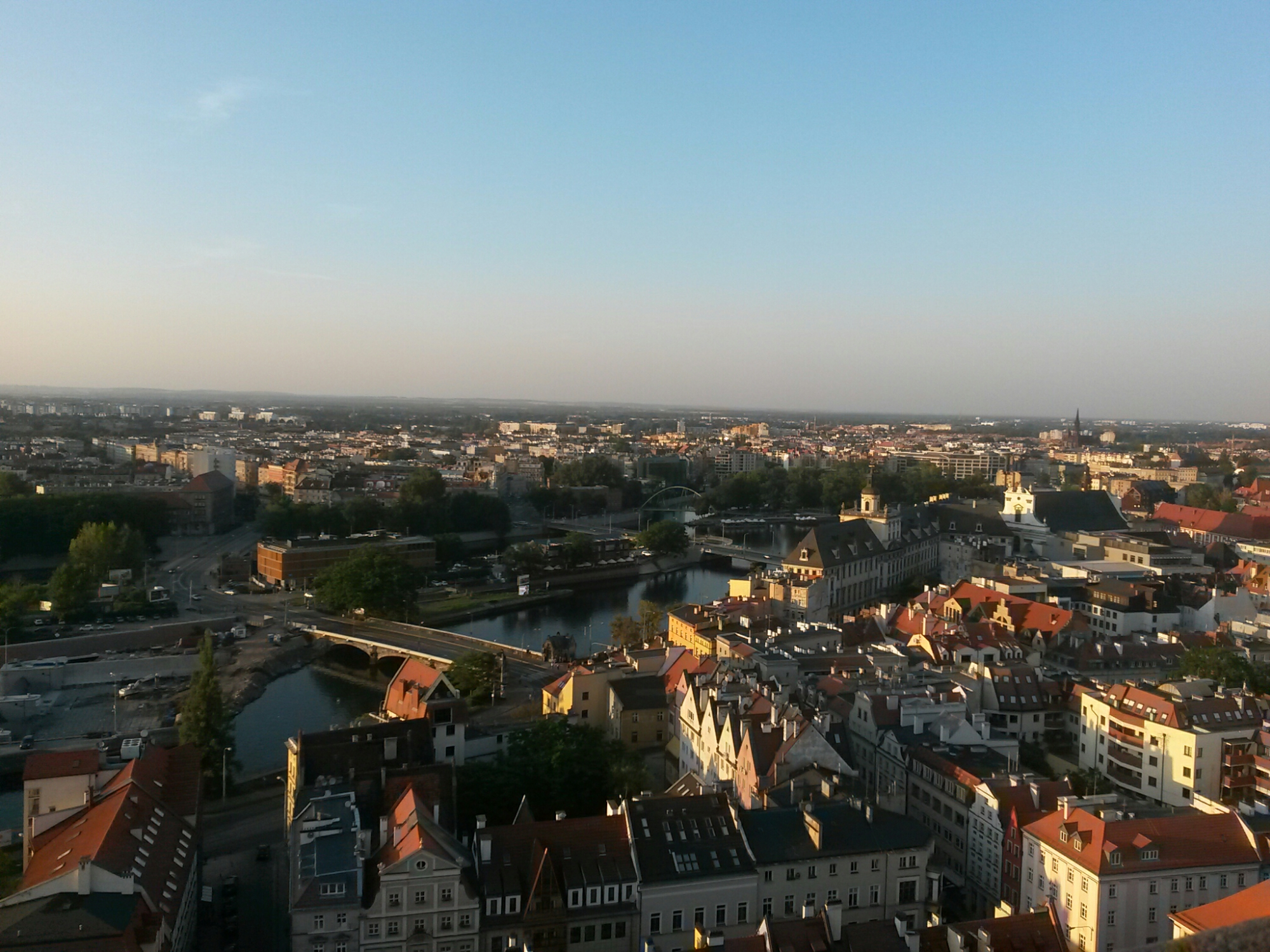 Panorama del fiume Wroclaw
