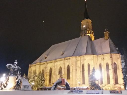 Cluj Napoca silenziosa e coperta da una coltre di neve è stata la nostra prima tappa