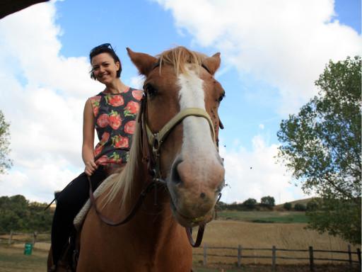 Io e Tornado felici dopo il trotto al Sillar Creek Ranch nella Valle del Sillaro