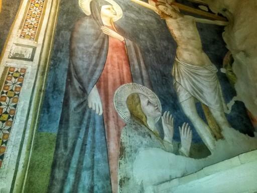 Affresco giottesco nella doppia cappella gotica della Cattedrale di San Venanzio