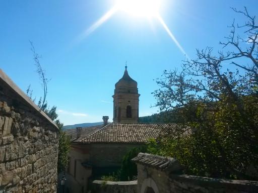 Il campanile orientale della Chiesa di Santa Lucia, visto dall'alto