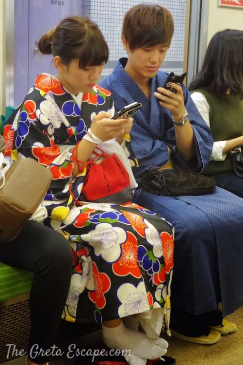 kimono a Tokyo