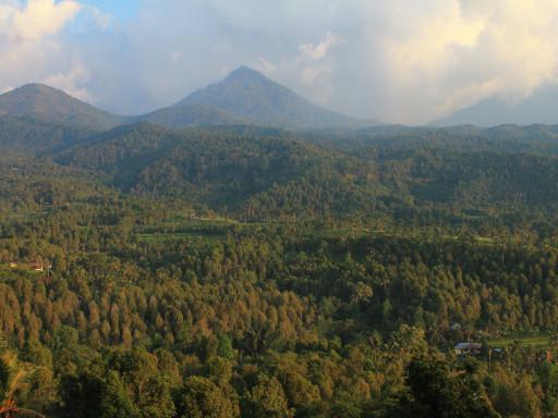 Munduk e la vallata delle risaie, della foresta, dei vulcani dopo la pioggia