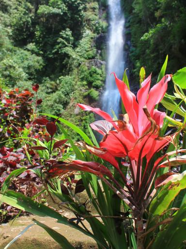 La Melanting Waterfall a prima vista
