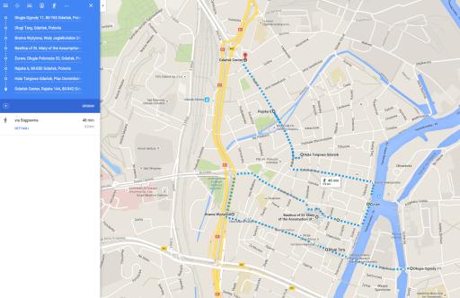 Urban trekking mappato