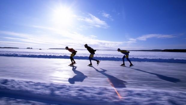 Ice skating a Kuopio