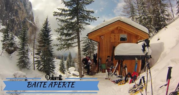 """""""Baite Aperte"""": ciaspole e piatti tipici sulle Dolomiti!"""