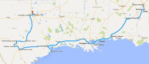 mappa-itinerario-sud-usa