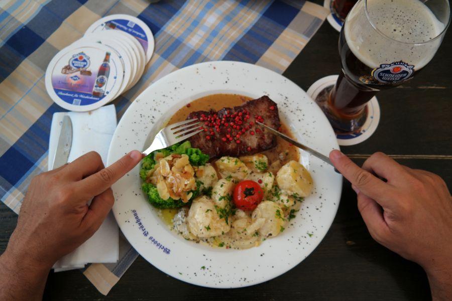 Un pranzo bavarese leggero...