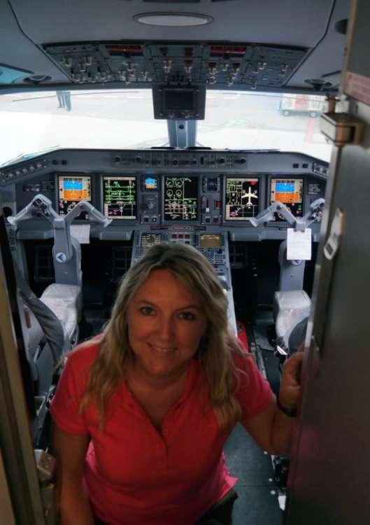 La mia prima volta in cabina di pilotaggio!