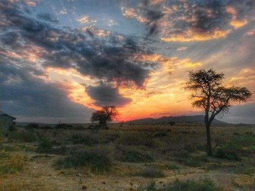 Un tramonto africano che sprigiona energia fino allultimo raggio di sole