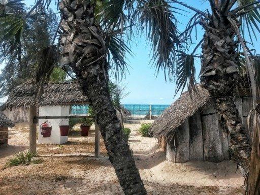 Dormire nelle capanne di legno sulla spiaggia si può al Kipepeo a sud di Dar
