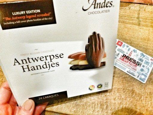 La Antwerp Hand è il simbolo storico della città e viene riprodotto anche in cioccolato!