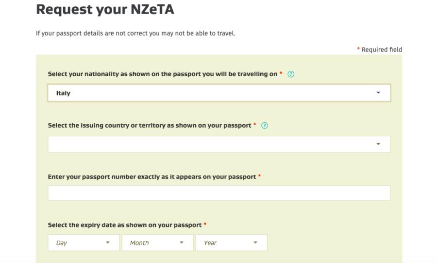 NZeTA Visto Nuova Zelanda